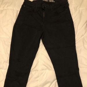 NWT black high rise skinny levi's jeans size 16